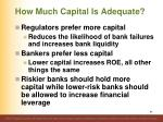 how much capital is adequate