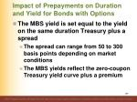 impact of prepayments on duration and yield for bonds with options2