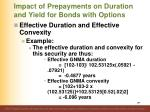 impact of prepayments on duration and yield for bonds with options7