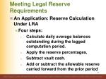 meeting legal reserve requirements6