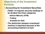 objectives of the investment portfolio1