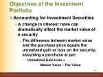 objectives of the investment portfolio2