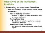 objectives of the investment portfolio3