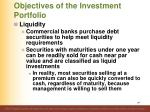 objectives of the investment portfolio5