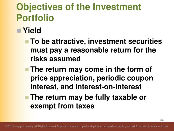 Objectives of the Investment Portfolio