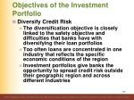 objectives of the investment portfolio8