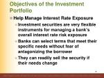 objectives of the investment portfolio9