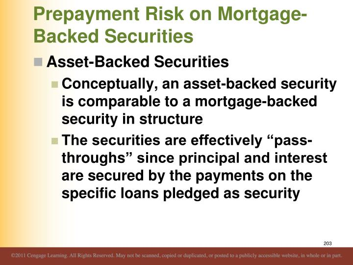 Prepayment Risk on Mortgage-Backed Securities