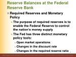 reserve balances at the federal reserve bank1