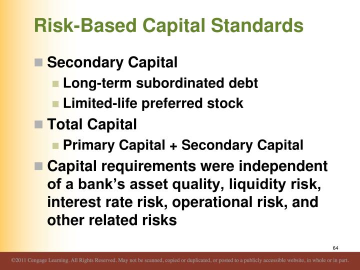 Risk-Based Capital Standards