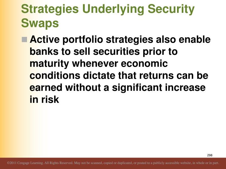 Strategies Underlying Security Swaps