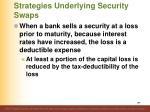 strategies underlying security swaps1