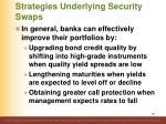 strategies underlying security swaps3