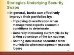 strategies underlying security swaps4