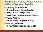 the effect of capital requirements on bank operating policies1