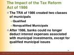 the impact of the tax reform act of 1986