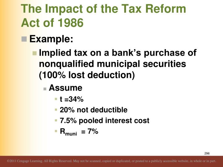 The Impact of the Tax Reform