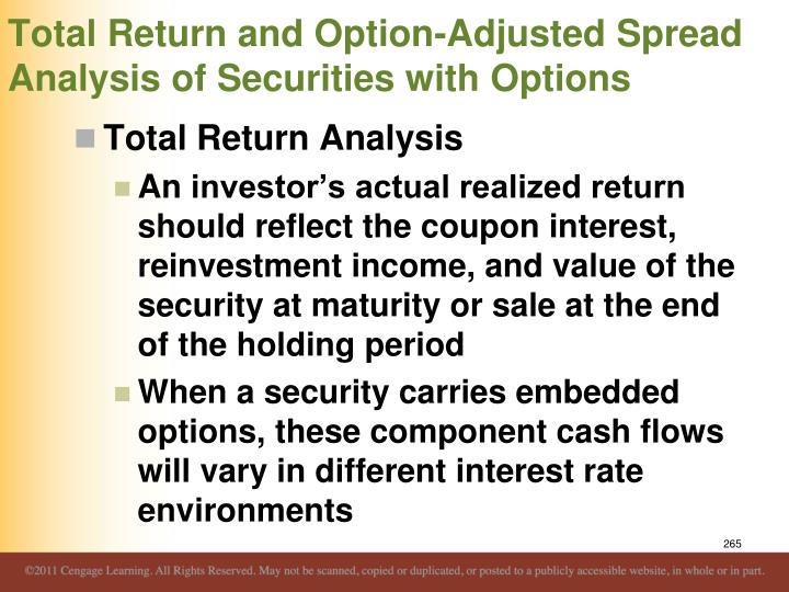 Total Return and Option-Adjusted Spread Analysis of Securities with Options