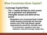 what constitutes bank capital4