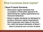 what constitutes bank capital9