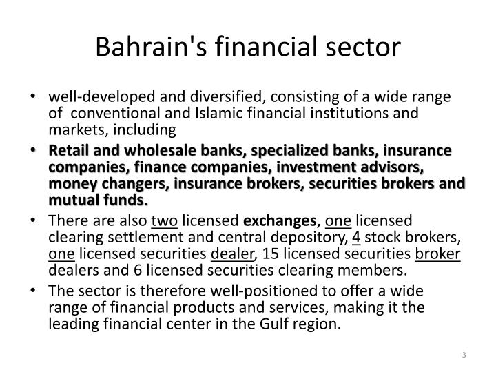 Bahrain s financial sector
