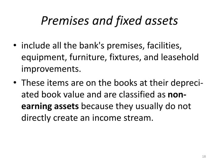 Premises and fixed assets