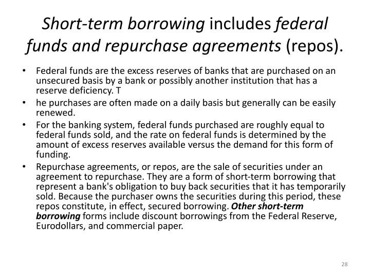 Short-term borrowing