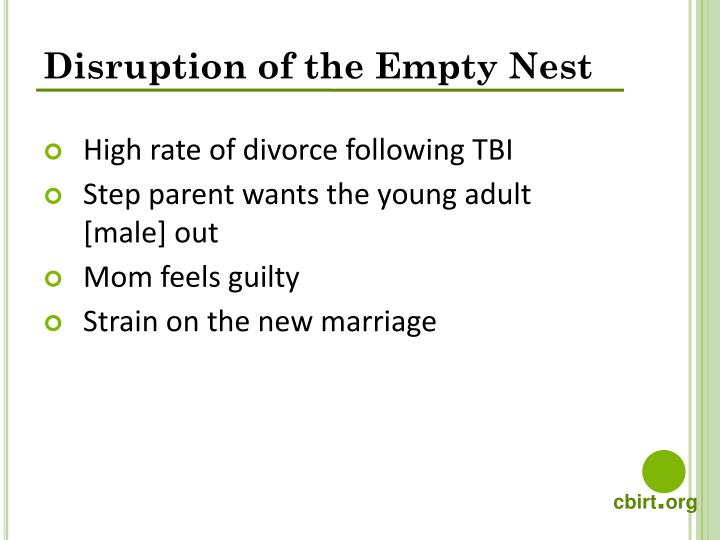 Disruption of the Empty Nest