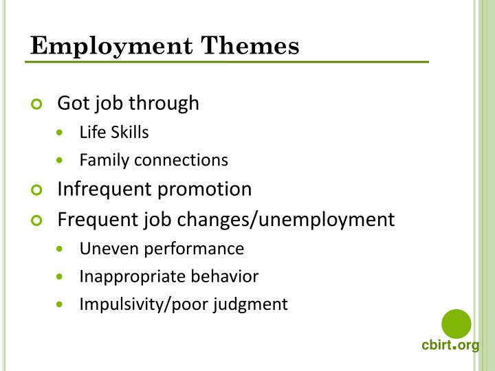Employment Themes