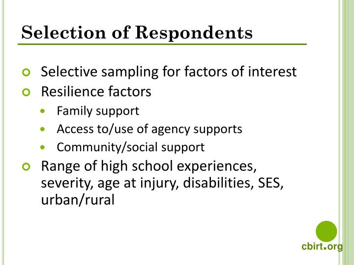 Selection of Respondents