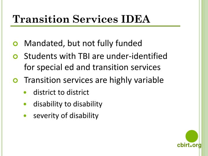 Transition Services IDEA