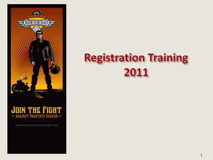 Registration training 2011