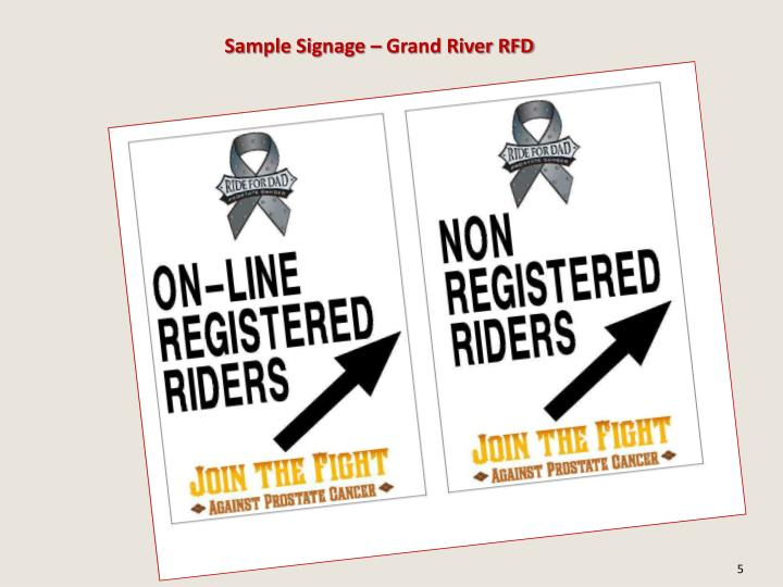 Sample Signage – Grand River RFD