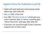 apple s terms for publishers cont d