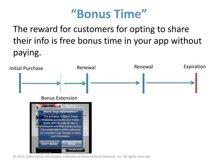 """Bonus Time"""