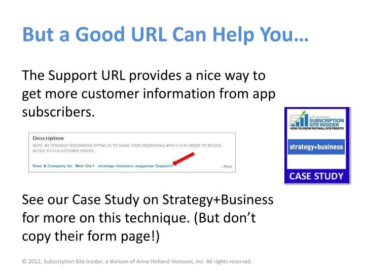 But a Good URL Can Help You…