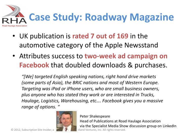 Case Study: Roadway Magazine