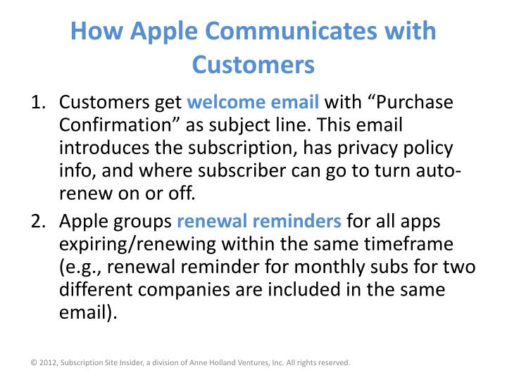 How Apple Communicates with Customers