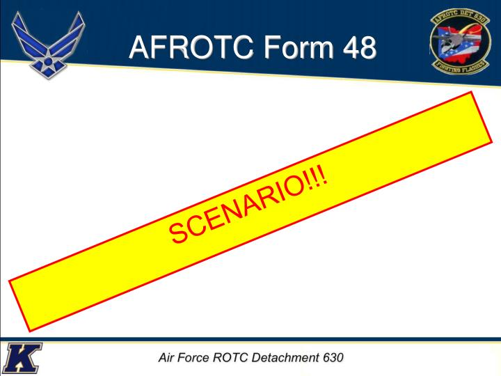 AFROTC Form 48