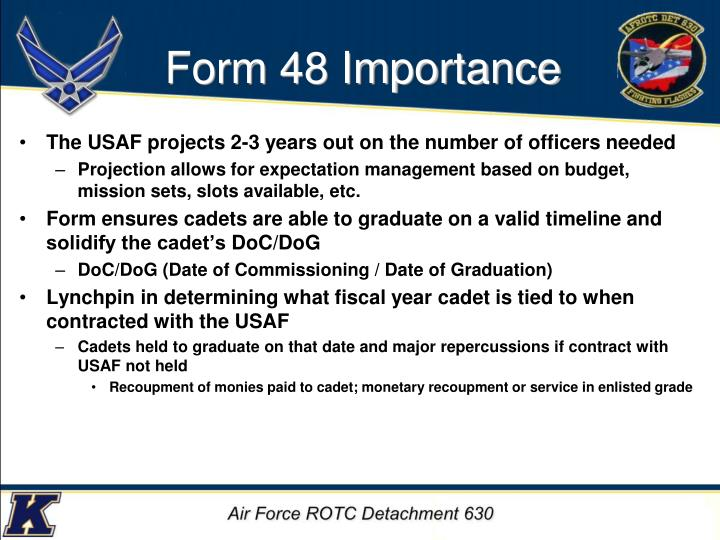 Form 48 Importance