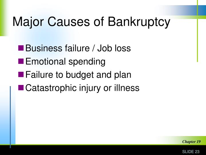 Major Causes of Bankruptcy