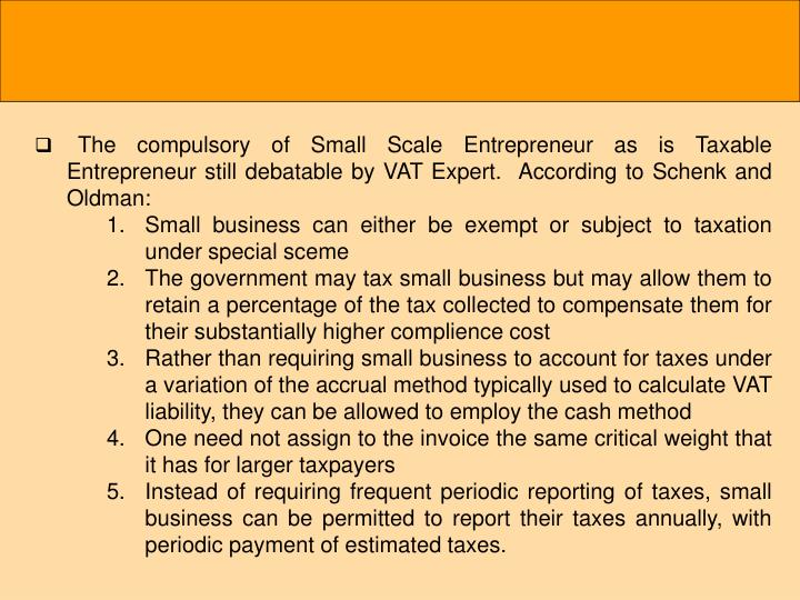 The compulsory of Small Scale