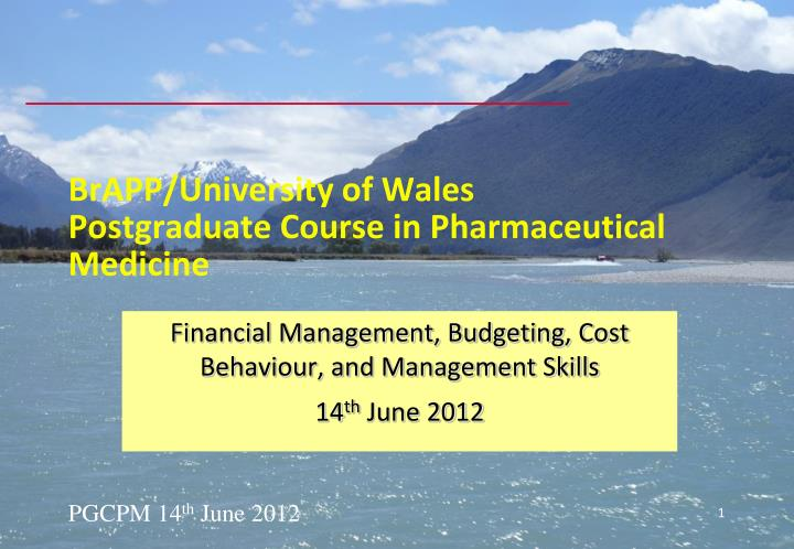 Brapp university of wales postgraduate course in pharmaceutical medicine