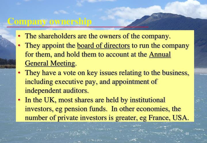Company ownership
