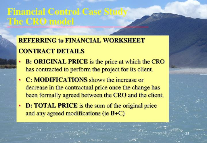 Financial Control Case Study