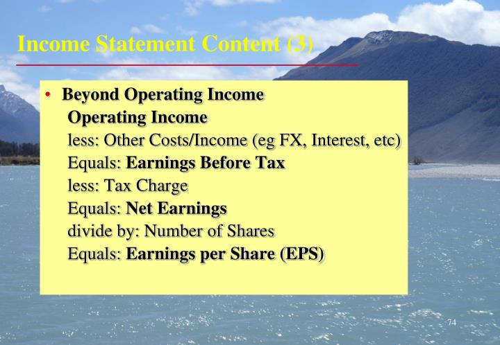Income Statement Content (3)