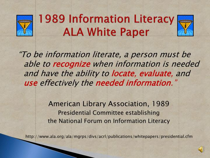 1989 Information Literacy