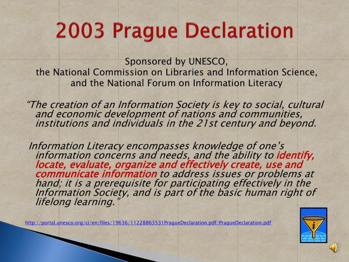 2003 Prague Declaration