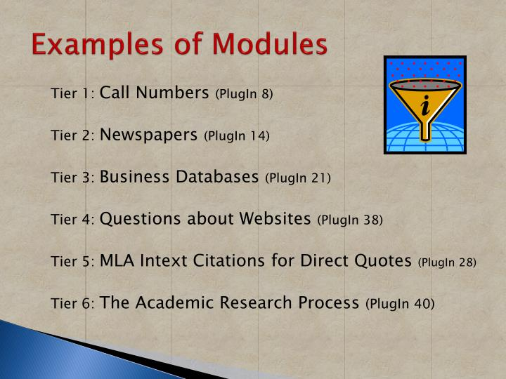 Examples of Modules