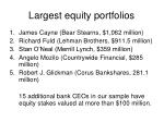 largest equity portfolios